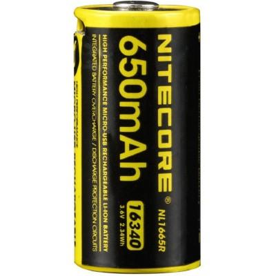 Аккумулятор NITECORE NL1665R RCR123/16340 USB