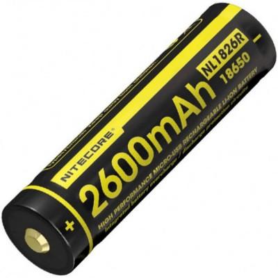 Аккумулятор NITECORE NL1826R 18650 USB 2600